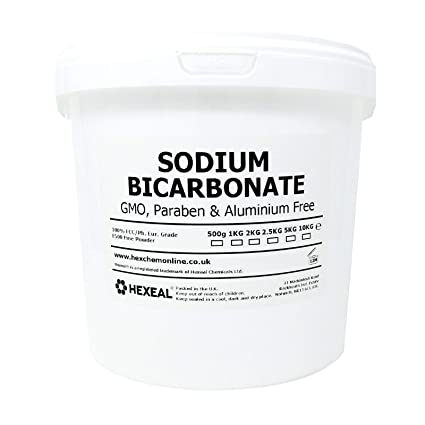 SODIUM BICARBONATE of Soda | 5KG BUCKET | 100% BP/Food Grade | Bath, Baking, Cleaning by Hexeal Chemicals