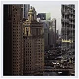 3dRose Chicago River, Michigan Avenue, Chicago, Illinois - US14 BFR0013 - Bernard Friel - Greeting Cards, 6 x 6 inches, set of 6 (gc_90146_1)