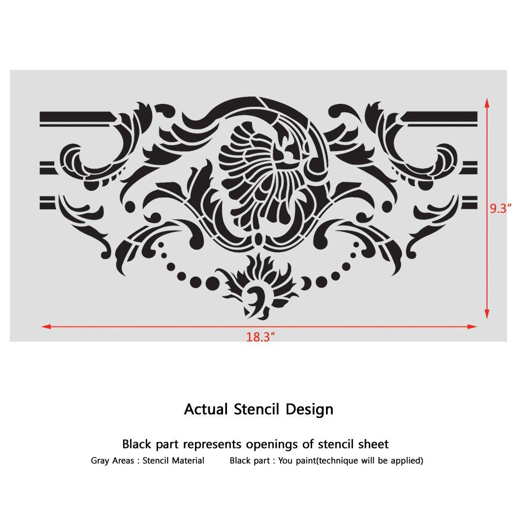 J Boutique pochoirs Frise murale pochoirs Motif Odelie r/éutilisable mod/èle pour DIY D/écoration murale