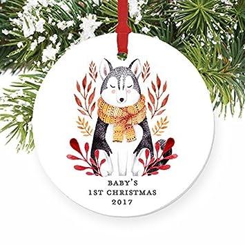 Amazon Com Larmai Gender Neutral Baby S First Baby Wolf S Husky Dog