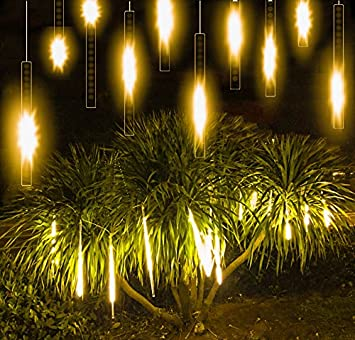 alkbo warm white color meteor shower rain lights waterproof string for wedding party christmas xmas decoration