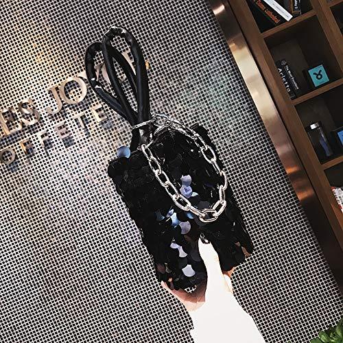 Seau WSLMHH à bandoulière Sac Sequins à Bag Messenger 2017 Sac Sac Noir bandoulière Petit personnalisé Sac Femme Mode Y6cOBcrxf0