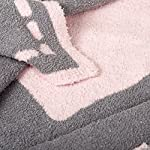 Living-Textiles-Super-Soft-Cozy-Chenille-Blanket-with-Pink-Heart-Knitted-Poly-Microfiber-Baby-Blanket-40×30-inch