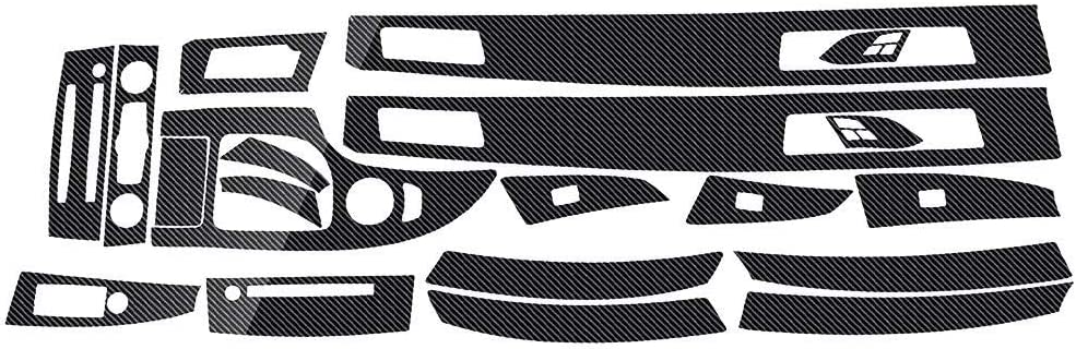 RUNGAO Autocollant en Vinyle pour Voiture 5D en Fibre de Carbone Brillant pour BMW S/érie 5 E60 2003-2010