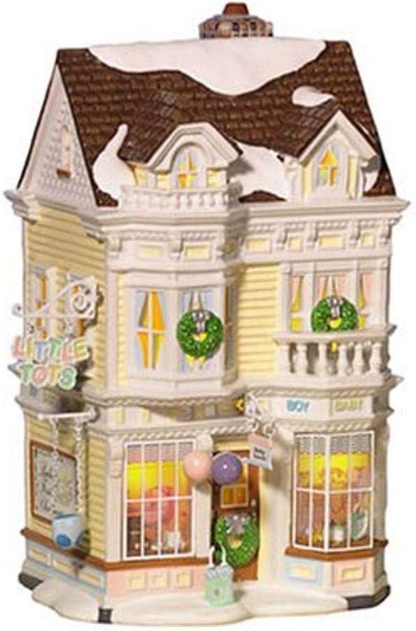 Department 56 Snow Village Little Tots Baby Goods Lit Building