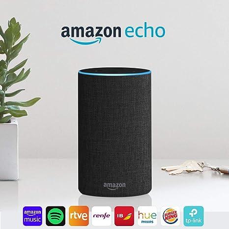 Image ofAmazon Echo (2.ª generación) - Altavoz inteligente con Alexa, tela de color antracita