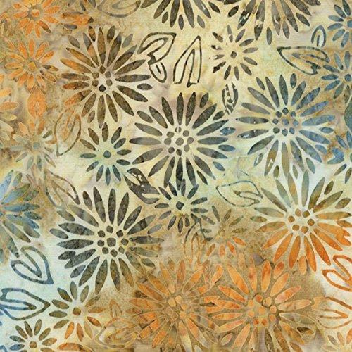 Timeless Treasures Fabrics True Love Tonga Batiks Natural Daisy Block (Tonga Natural)
