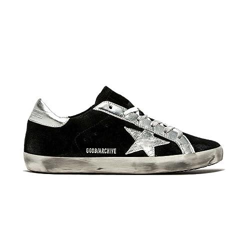 02333c84e56f5 The Golden Goose Golden Goose Women s Sneakers Superstar Black Suede-Silver  GARWS590.E54 (