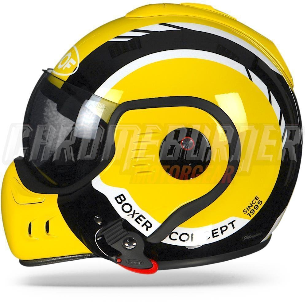 Amazon.es: CASCO MOTO MODULAR ROOF BOXER LP20 APERTURA COLOR NEGRO L-60 amarillo