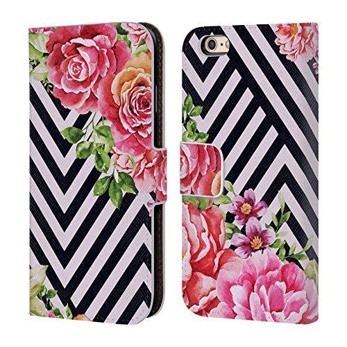 Officiel Mark Ashkenazi Fleur Géométrique Fleurs Étui Coque De Livre En Cuir Pour Apple iPhone 6 / 6s