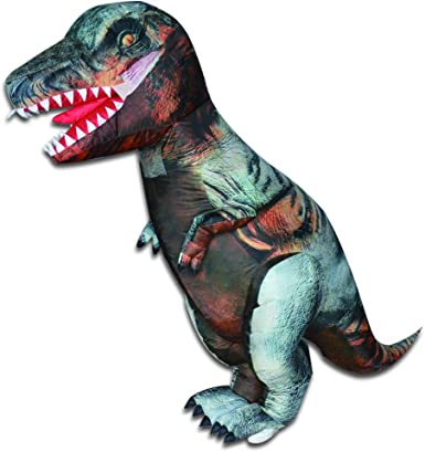 Dinosaur Costume Funny Jurassic Adult Halloween Blow up Dress Inflatable Air