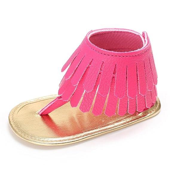 Zapatos Bebe Verano Xinantime Sandalias de Vestir Niña Zapatos Bebe Primeros Pasos Andadores Niñas Zapatos Bebé Aire Libre Borla Sandalias Zapatos de ...