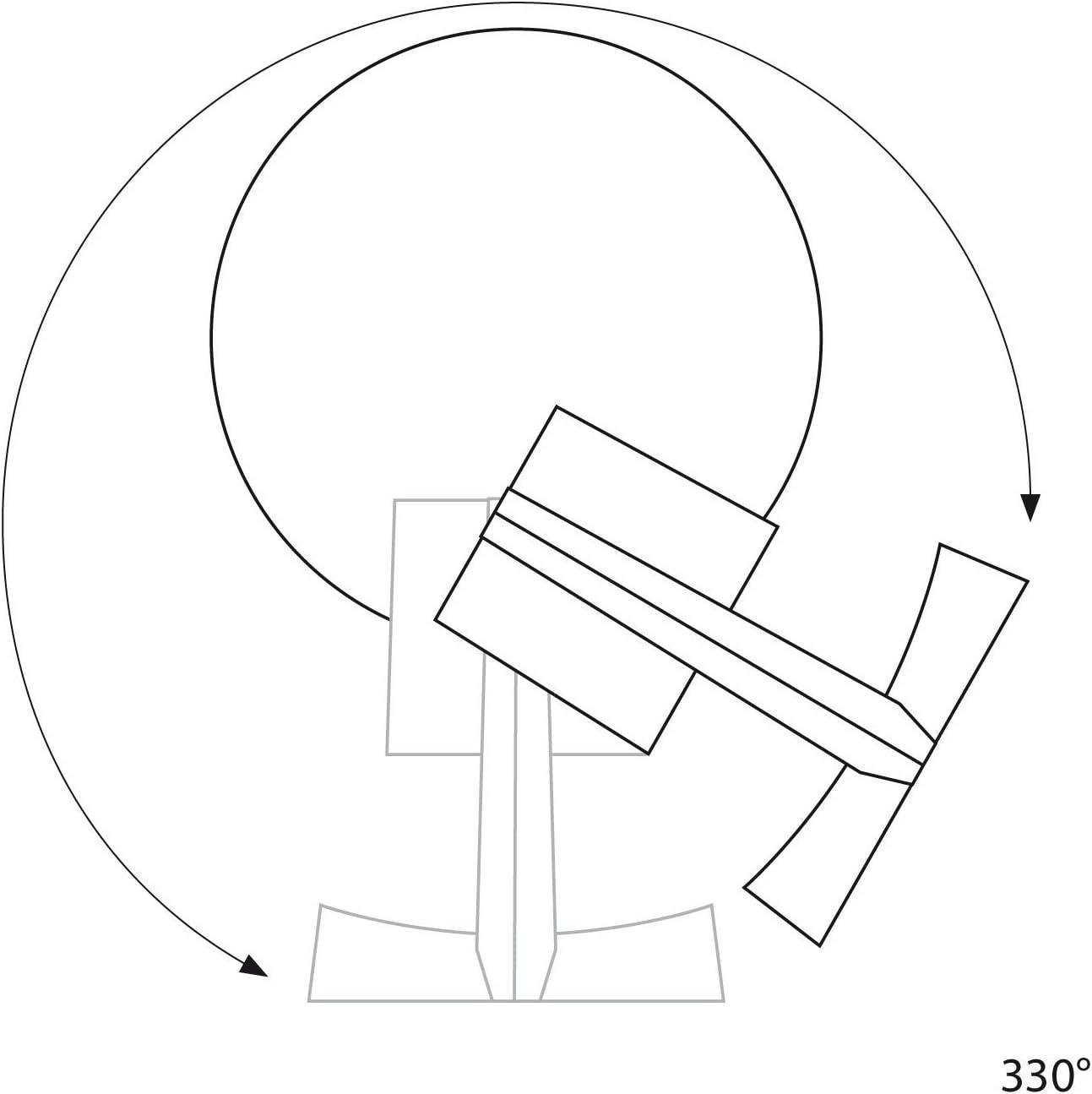 /à Six Ampoules ledscom.de Spot de Plafond Leonis GU10 Chrome Mate