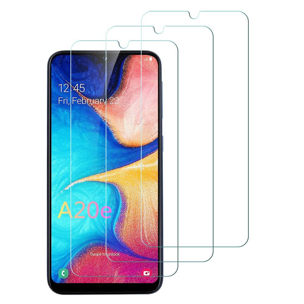 Flysee Pellicola Vetro Temperato per Samsung Galaxy A20e, Pellicola Protettiva per Samsung Galaxy A20e Custodia Compatible, Senza Bolle, HD Chiaro, 9H Durezza, Anti-Graffio 3-Pack