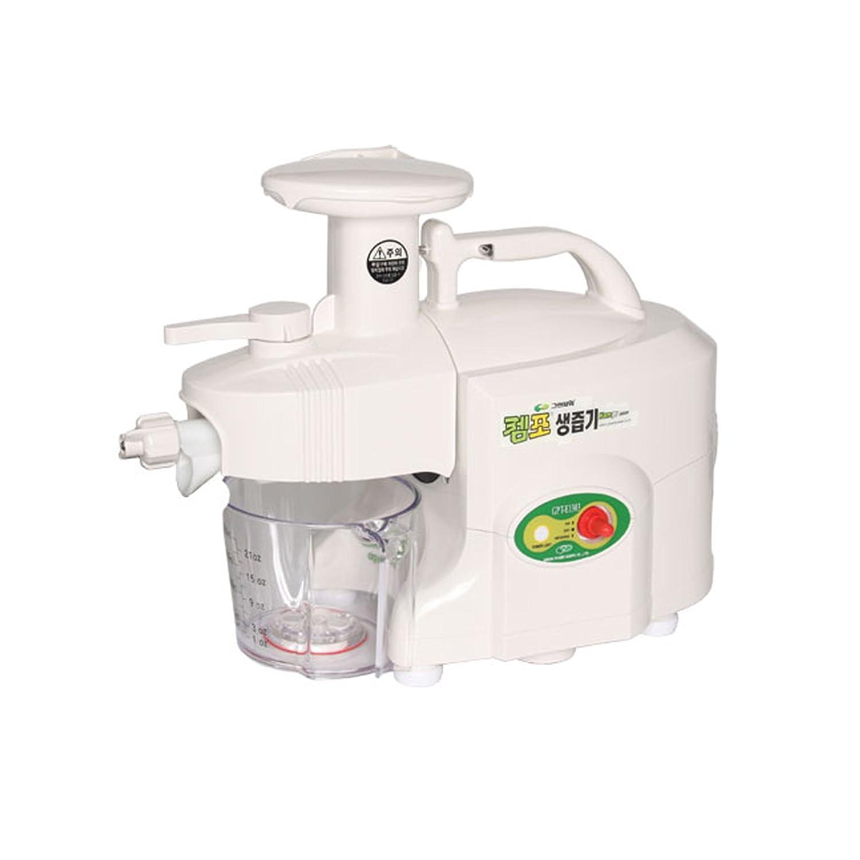 GREEN POWER KEMPO [GPT-E1303] Standard/Exclusive-Pro Twin Gear Slow Juicer Green Fruit Extractor Double Gear (Standard Type, White)