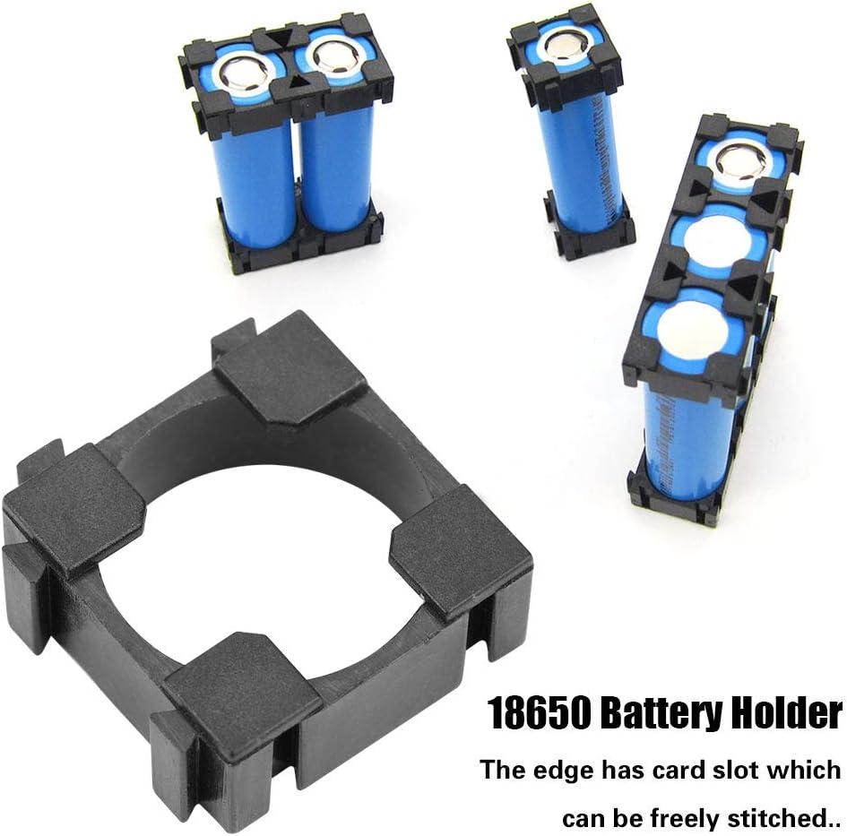 Yosoo Health Gear 18650 Li-Ionen-Batteriehalter 100 St/ück 18650 Zylindrische Batteriehalterung f/ür DIY Batteriehalterung