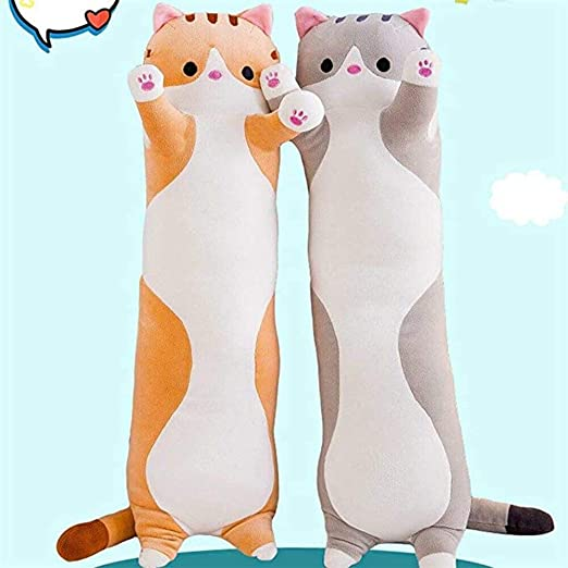 color gris Niikee 50//70//90 cm Almohada de peluche para gatos y gatos
