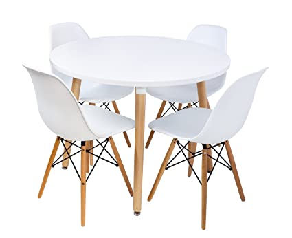 Admirable Amazon Com Halo Dining Table Round 27 6D Tables Pabps2019 Chair Design Images Pabps2019Com