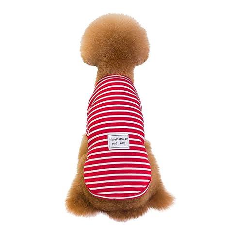 Pijama para mascotas con rayas para perros grandes, suave ...
