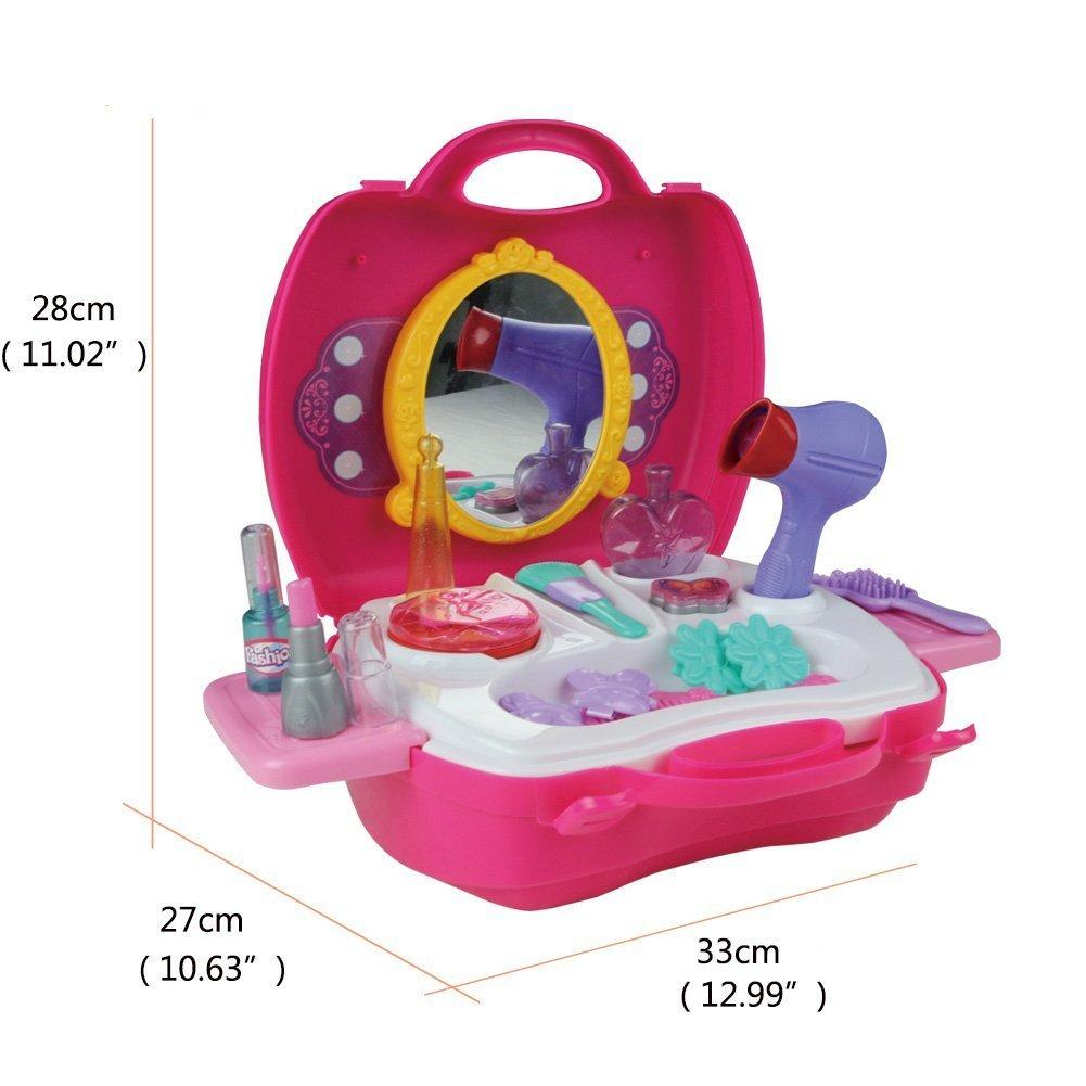 21 Stck Prinzessin Make Up Zubehr Schnheit Spielzeuggyoyo Kosmetik Toys Set In Einem Koffer Mdchen