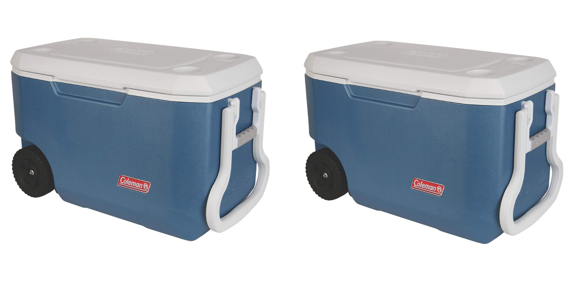 Coleman 62-Quart Xtreme 5-Day Heavy-Duty Cooler with Wheels, Blue/Pack of 2