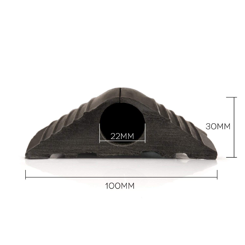Boden Kabelbr/ücke Boden-Kabelkanal 100x20mm Breit 10m L/änge Fussboden Kabelkanal Modular gefertigte Schlauchbr/ücke F/ür Fu/ßverkehr geeignete Boden-Kabelabdeckung 20mm Loch Schwarz