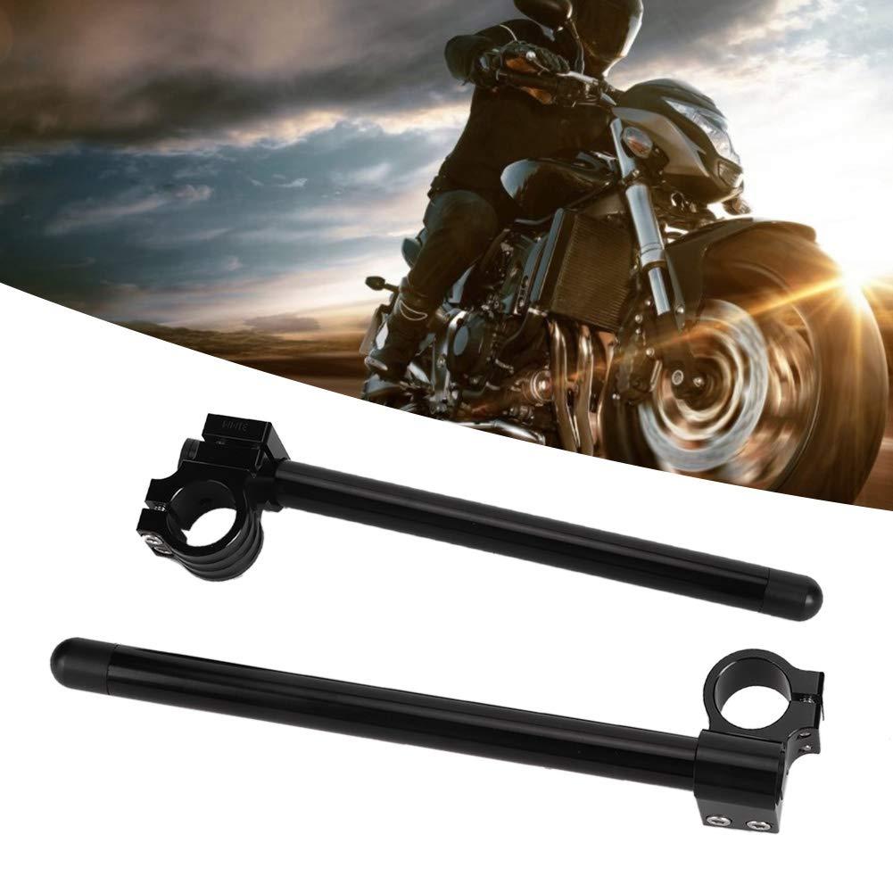Manubrio universale 2 pezzi per moto Manubrio in alluminio modificato nero per moto 36mm
