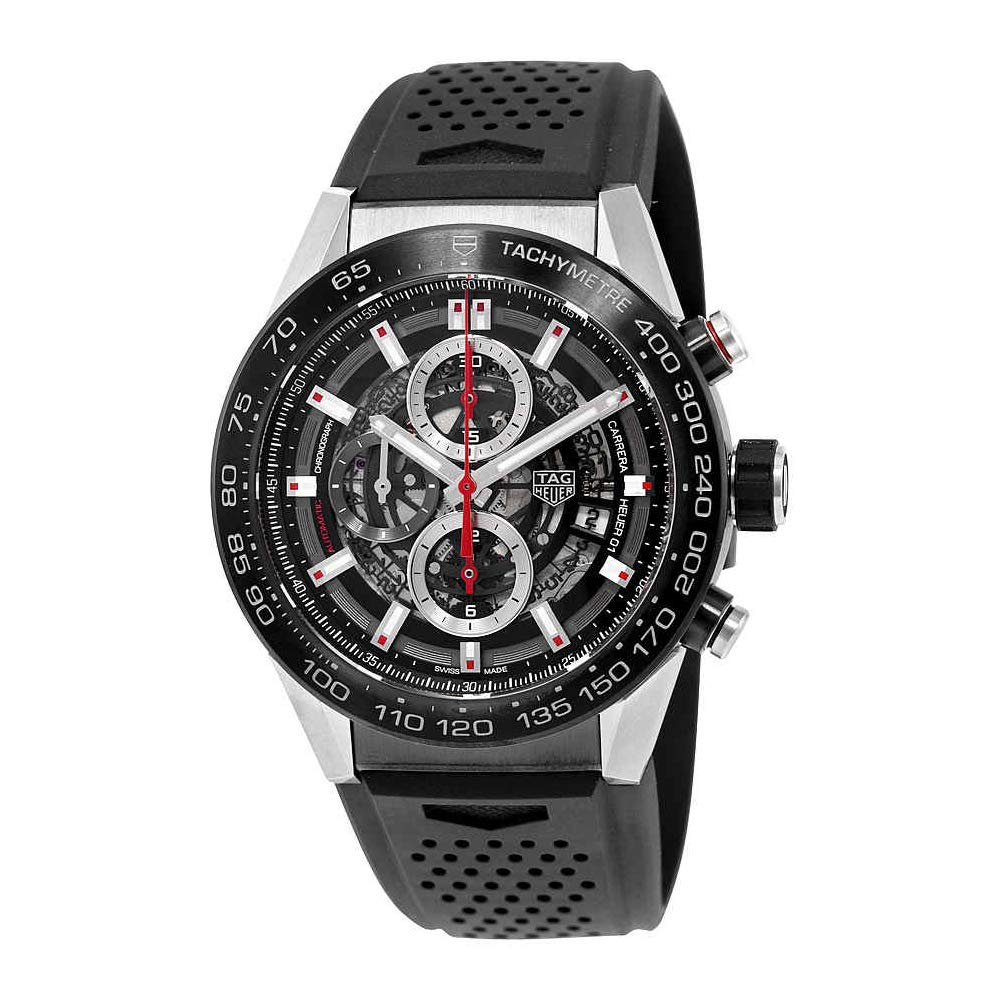 e421f8e5b9d Amazon.com  Tag Heuer Carrera Calibre Heuer 01 Automatic Skeleton Dial Mens  Watch CAR2A1Z.FT6044  TAG Heuer  Watches