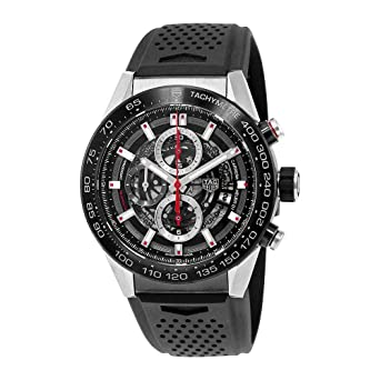 1ed9fb0a819 Image Unavailable. Image not available for. Color  Tag Heuer Carrera  Calibre Heuer 01 Automatic Skeleton Dial Mens Watch ...