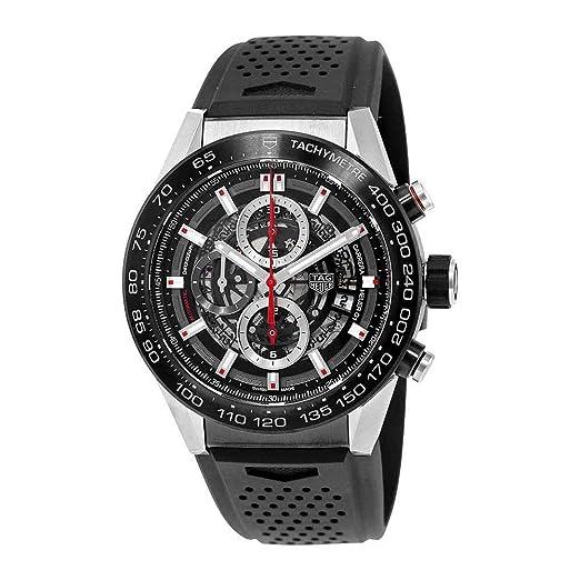 TAG HEUER OROLOGIO CARRERA CALIBRE HEUER 01 AUTOMATIC SKELETON DIAL ACCIAIO CAR2A1Z.FT6044: TAG Heuer: Amazon.es: Relojes