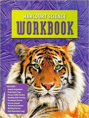 Harcourt Science: Student Edition Workbook Grade 6: HARCOURT ...