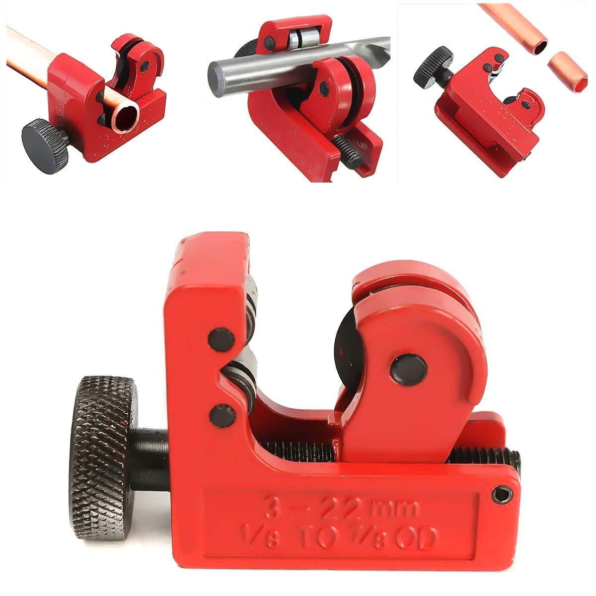 Mini Rohrschneider, SECARIER Ø 3-22 mm Rohrabschneider Kupferrohrschneider Schneidwerkzeuge für Schneiden von Rohren aus Kupfer, Messing, PVC Aluminium, Kunststoff