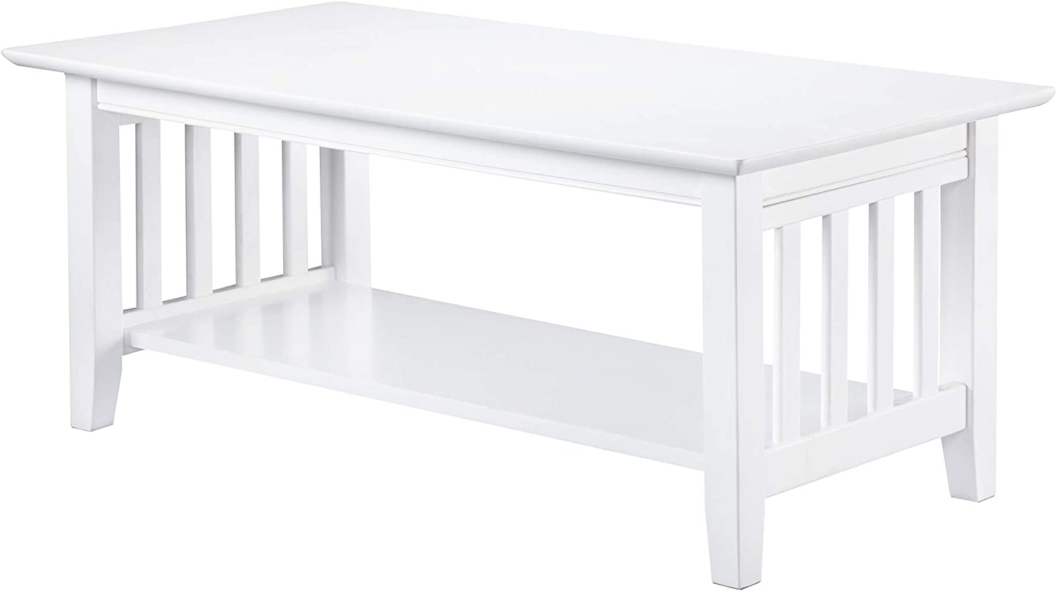 Atlantic Furniture Mission Coffee Table, White
