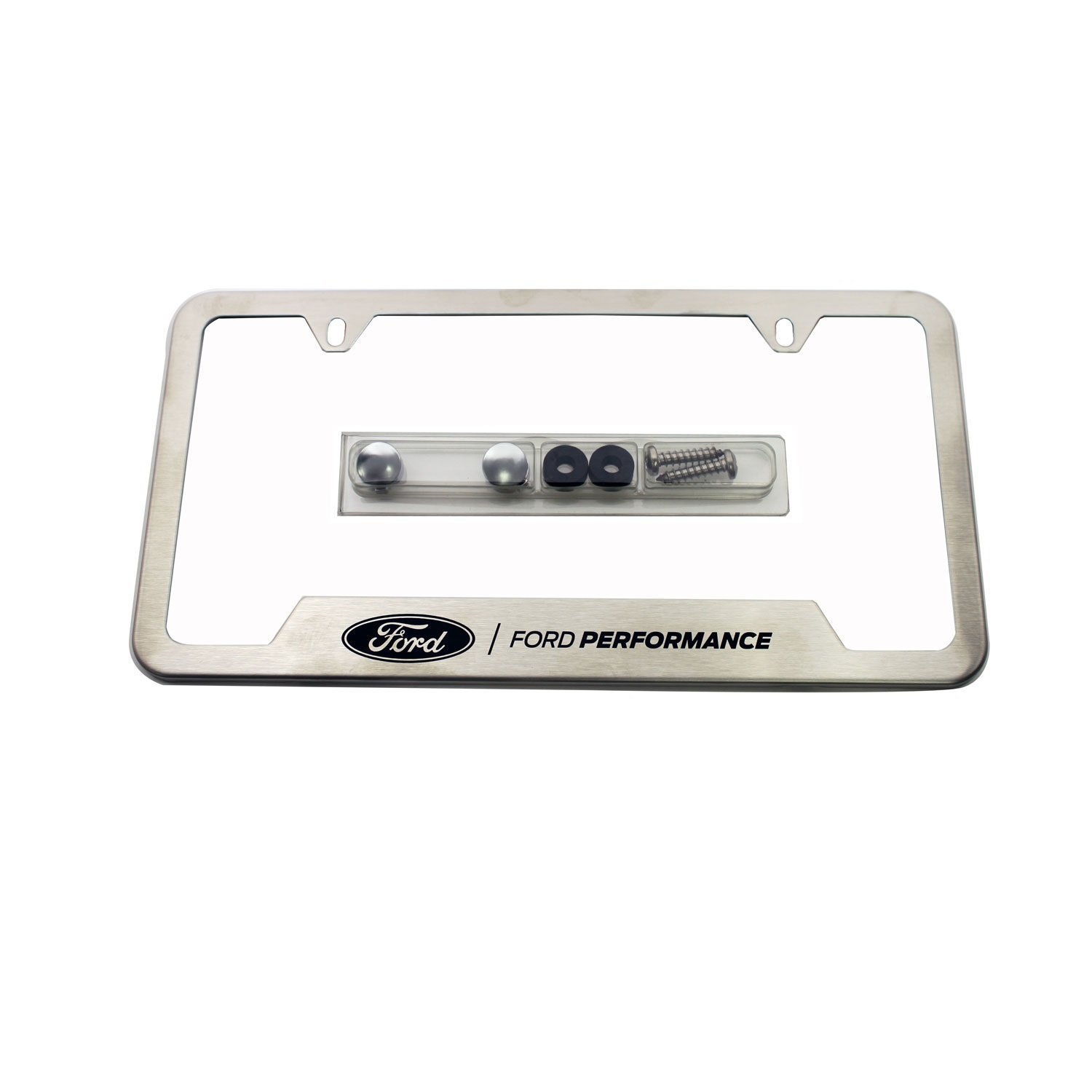 Amazon.com: Ford Racing Stainless Steel Ford Performance License ...