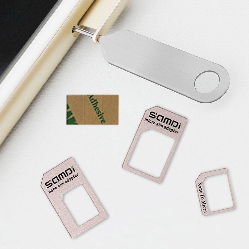 Amazon.com: Adaptador de tarjeta micro SIM Nano a Micro SIM ...