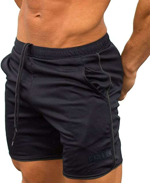 Men Gym Workout Shorts Fitted Training Running Shorts Athletic Training Shorts