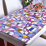 PVC Tablecloth Oilproof Waterproof Soft Glass Rectangle Table Cover Home Party Banquet