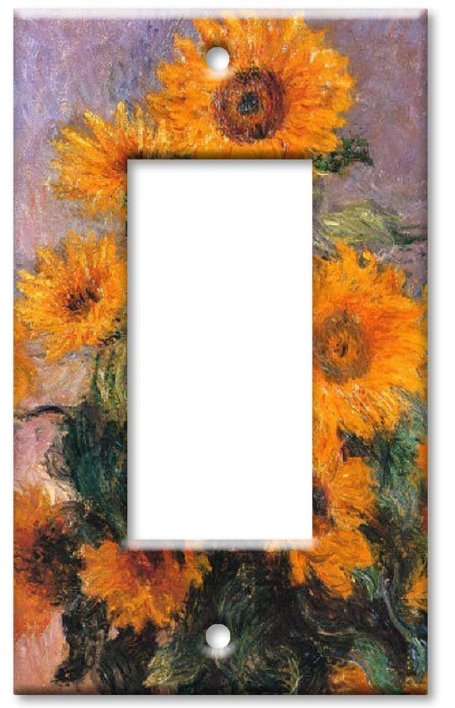 Sunflowers Art Plates 97-O Outlet Cover Wall Plate Monet