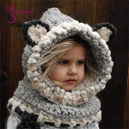 81776b9de65dd JBLDY Sombrero para Niños Otoño E Invierno Espesante Protector de Oreja  Forma de Animal Gorro de