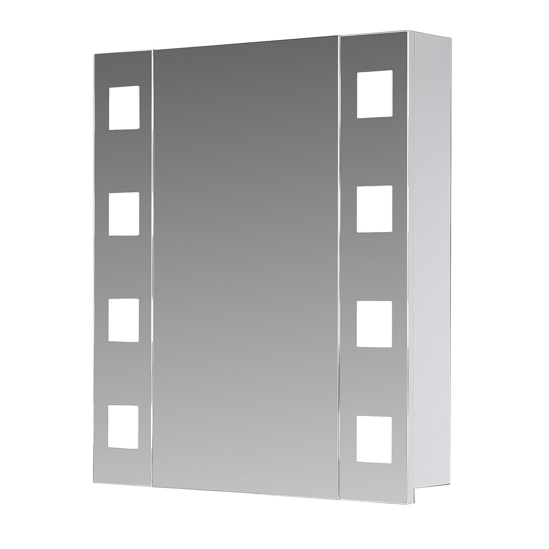 eurosan new york ny60 armoire de toilette à miroir à clairage led