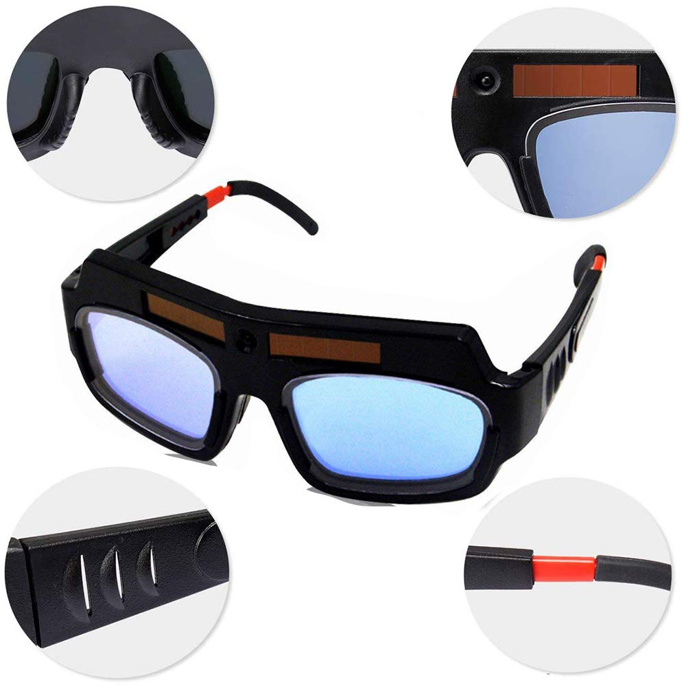 LETBUY Welding Glasses Mask Helmet Eyes Goggles, Solar Auto Darkening Welding Goggle Safety Protective Eyes Goggle, Professional PC Lens Welder Soldering Mask Anti-Flog Anti-Glare Goggles by LETBUY-Tech (Image #4)