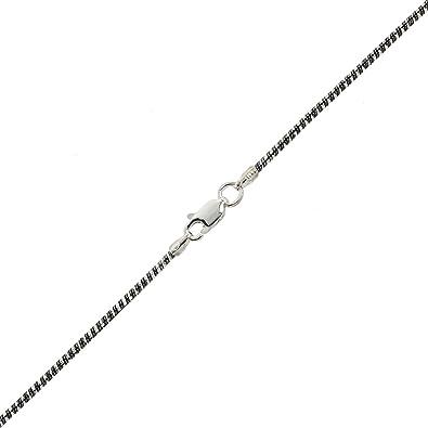 d68987b64138 Alek Palisandro estrellas la Barca Mujer Collar Cadena de Serpiente Plata  de ley 925 rodio negro bicolor  Amazon.es  Joyería