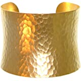 "Nickel Free 2"" Wide Hammered Metal Cuff Bracelet, Quality Made in USA, GirlPROPS' Exclusive!"