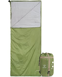 REDCAMP Ultra Lightweight Sleeping Bag for Backpacking, Comfort for Adults Warm Weather, with Compression