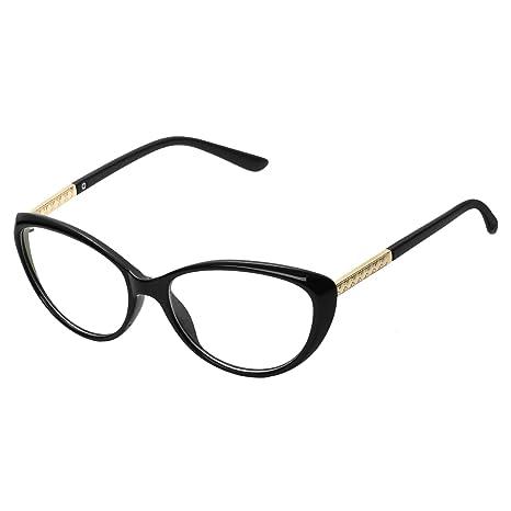 2b233a21dba67 Forepin reg  Montura para Gafas de Vista Mujer Ojos De Gato Lente  Transparentes Unisexo Hombre -