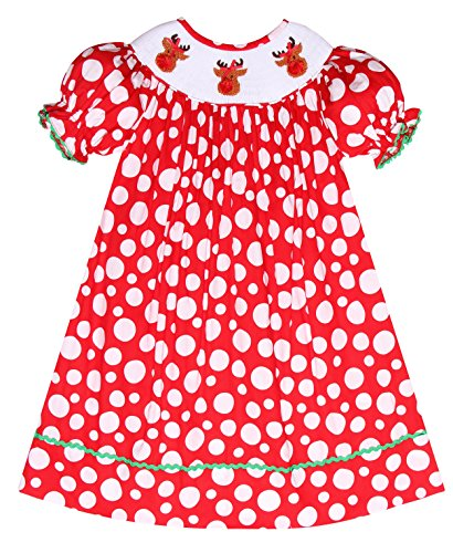 Red Smocked Dress - 6