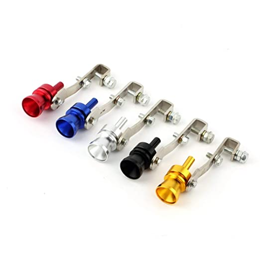 Universal Aluminum Cars Auto BOV Turbo Sound Whistle Tube Sound Simulator Tube Exhaust Muffler Pipe Tube: Amazon.es: Coche y moto