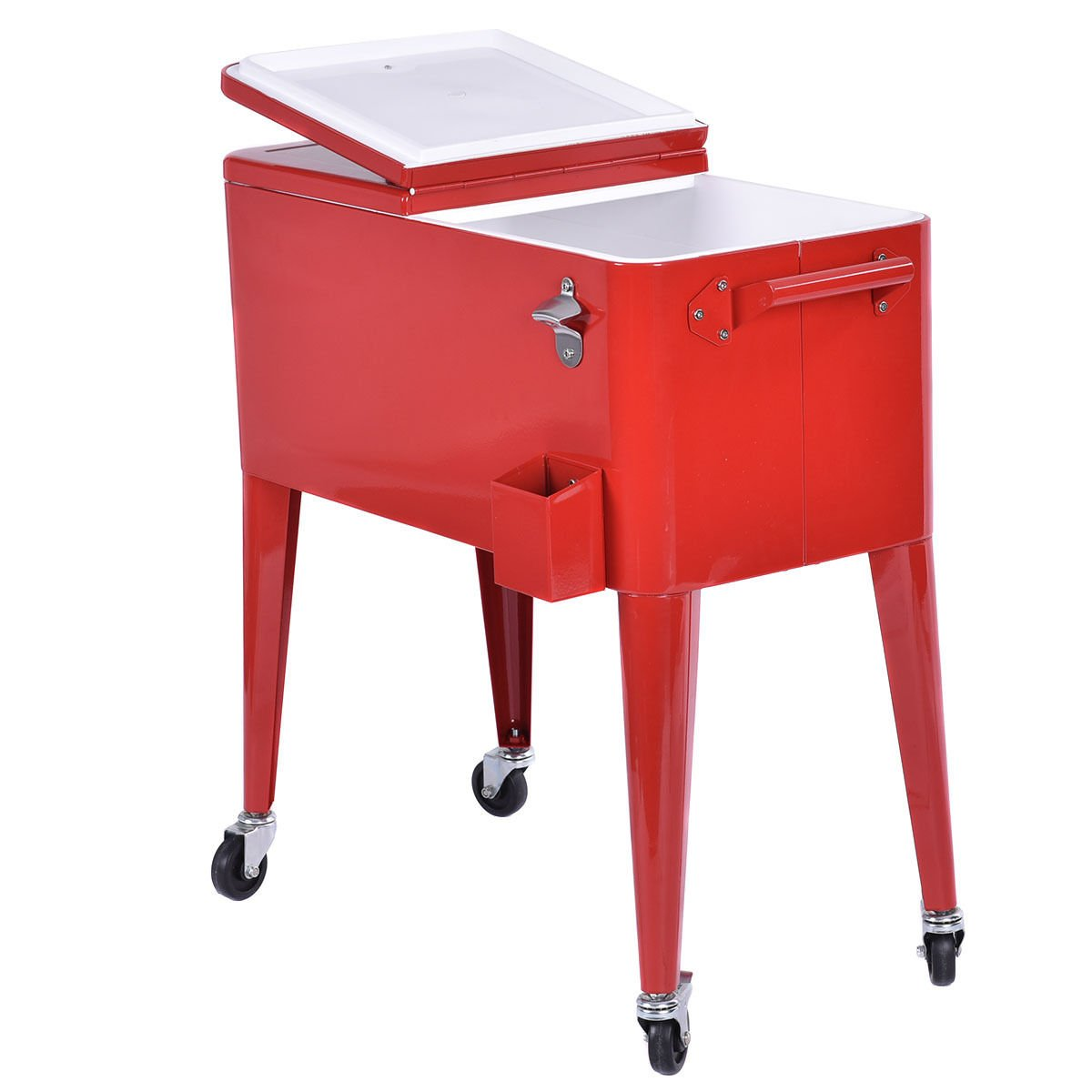 Merveilleux Amazon.com: Giantex 80 Quart Patio Rolling Cooler Cart Ice Beer Beverage  Chest Party Portable With Wheels, Red: Sports U0026 Outdoors