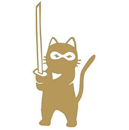 Amazon.com: NINJA CAT Vinyl Sticker Decal (3