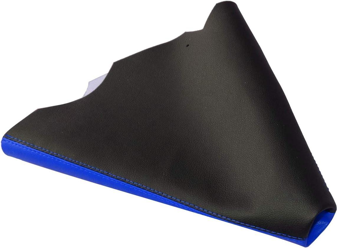 noir avec surpiq/ûres bleues AERZETIX Soufflet de levier de vitesse en simili cuir avec couture//surpiq/ûres couleurs variables